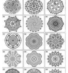 Imagens encontradas no Pinterest, lindos pontos para nos ajudar.  Vamos crochetar ?
