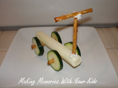 Scooter made of food - cute after school snack