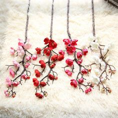 4 Colors Multi Heads 60CM Artificial Flowers Plum Blossom Silk DIY Home Wedding Decoration Fake Flowers Plants Wholesale noJA22. Yesterday's price: US $1.79 (1.45 EUR). Today's price: US $1.41 (1.14 EUR). Discount: 21%.