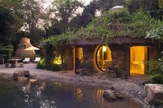 Cool vacation hobbit house
