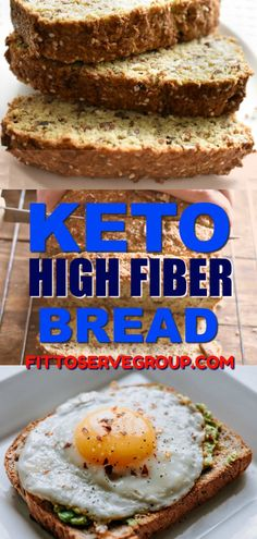 Keto High Fiber Bread-A great tasting high fiber bread that is low in carbs and keto-friendly. Keto High Fiber Bread-A great tasting high fiber bread that is low in carbs and keto-friendly. No Bread Diet, Best Keto Bread, Vegan Keto Diet, Vegetarian Keto, Vegetarian Italian, Vegetarian Recipes High Fiber, Paleo, Ketogenic Diet Meal Plan, Ketogenic Recipes