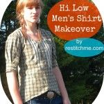 "Tailored ""Hi-Low"" Shirt from Men's Shirt the link is down.  Look at the photo for inspiration."