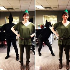 Peter Pan and his shadow!  I think this might be my favorite two-person costume that I've seen....