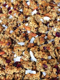 Chunky Homemade Granola - we go through a batch of this almost every week! Everyone loves it!