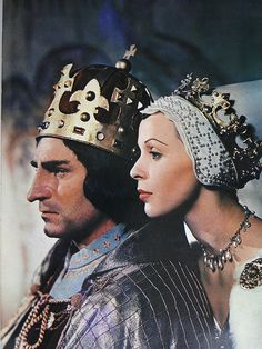 Laurence Olivier and Claire Bloom in Richard III