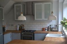 Kitchen renovation reveal. Ikea Veddinge grey kitchen with wood ...
