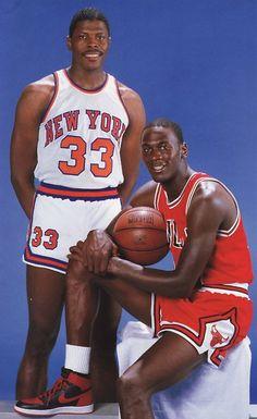 Patrick Ewing and Michael Jordan