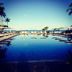 The beautiful pool at the @Mandy Dewey Seasons Hotels and Resorts Hotels and Resorts Kona!!