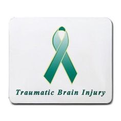 TBI Ribbon. Not fun to earn the ribbon, but once you do every day of recovery calls for pride and celebration.