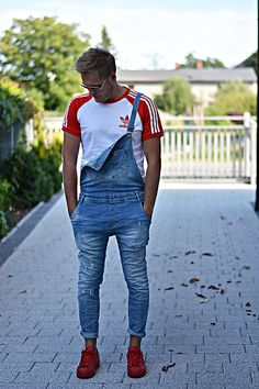 Get this look: http://lb.nu/look/8420939 More looks by Marcin Wysocki: http://lb.nu/neverendingfashion Items in this look: Zara Dungarees, Adidas Red Sneakers, Adidas Originals! #casual #sporty #street #polishblog #polishblogger #menfashion #fashionboy #adidas #look