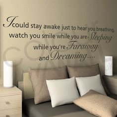 Aerosmith I Don't Want To Miss A Thing Lyrics - Wall Sticker Quote. This is def being bought. It me and my husband song we dance to at our wedding<3