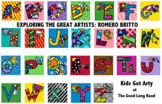 Kids Get Arty: Romero Britto - Exploring the Great Artists