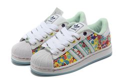 Adidas Superstar 2 Womens 028189 Floral Multicolor Print Trainers Shoes UK Discount http://www.hotsportuka.com