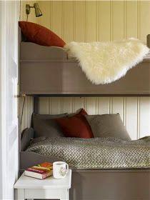 Lyst og lett, men koselig hyttepreg – Happy Homes Norge Kos, Bunk Beds, Cottage, Architecture, Interior, Furniture, Design, Home Decor, Cabins