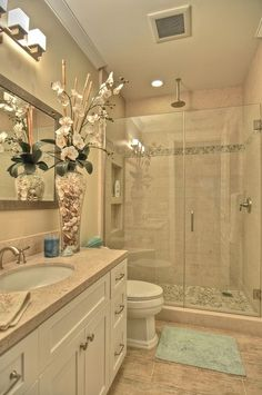 Master bath...except the shower head would be on the same wall as the other part of the fixture...and the toilet placement is different of course.
