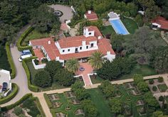 Ellen DeGeneres Listed for: $24 million  Talk show host and comedienne DeGeneres bought this Montecito, Calif., spread in October for $16.9 million. It boasts four bedrooms and eight bathrooms and sits on four acres with a pool, tennis court and both mountain and ocean views.