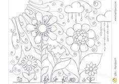 "Hattifant's Spring Colouring in Page - ""Lets Colour In Spring"""