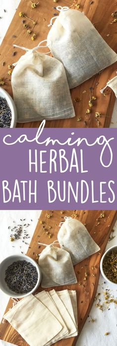 Calming Herbal Bath Bundles: An herbal bath has so many benefits: reducing stress and anxiety, helping with pain, and promoting sleep. These are safe for kids.