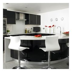 Kitchen With Table Connected Http Www Home Designing Com Wp