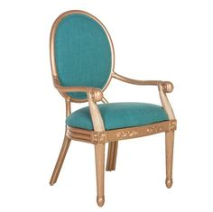 Teal and gold chair