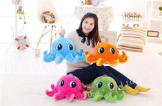 Stuffed Sea Animal Octopus Doll Birthday Gifts Plush Toys Home Decor Cushions