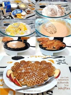 Low Carb Cinnamon Buttermilk Soy Waffles (Atkins Diet Phase 1 Recipe)   Diet Plan 101