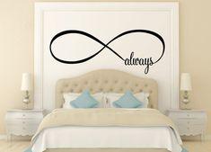 Always Infinity Symbol Bedroom Wall Decal Love by NewYorkVinyl