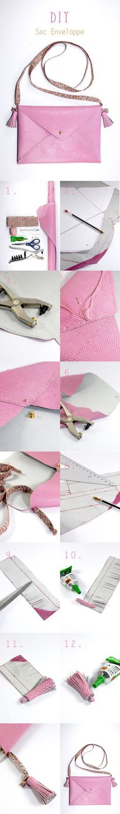 DIY Envelope Clutch - FREE Pattern and Tutorial a must create