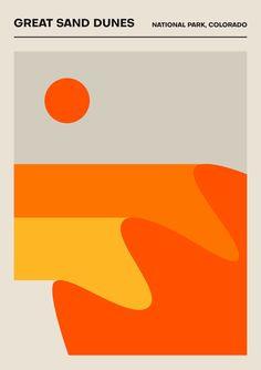 US National Parks - Set of 3 Posters - US Travel Prints Vintage Prints Geometric Print Retro Wall Art Home Decor Posters travel large set Graphic Design Posters, Travel Illustration, Illustrations, Minimalist Art, Motion Design, Vintage Prints, Book Design, Wall Collage, Wall Art