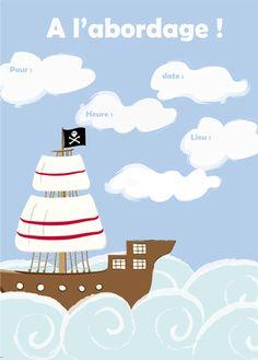 20 Meilleures Images Du Tableau Invitations Anniversaire Pirate
