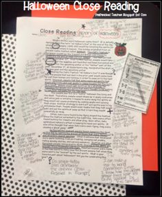 """Close Reading Article about the """"History"""" behind Halloween! Great facts behind why we celebrate Halloween. Free Article"""