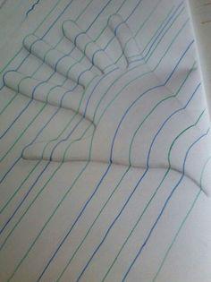 Clever 3D notebook art