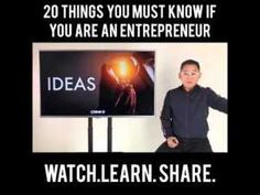 NEGOSYO TIPS: 20 THINGS YOU MUST KNOW IF YOU ARE AN ENTREPRENEUR Pinoy, You Must, Online Courses, Entrepreneur, Learning, Business, Tips, Studying, Teaching