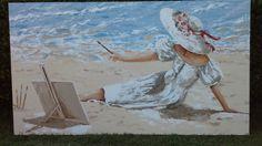 Renzo - donna  che dipinge in riva.....