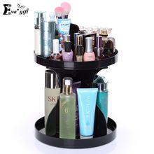 Мода Вращающихся косметический коробка для Косметических ванная комната макияж хранения Комод косметический организатор Рабочего Стола Ящик Для Хранения стойки вращения(China (Mainland))