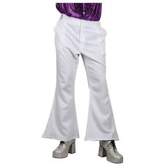awesome  70's Flares (White) - Adult Costume Accessory Men : LARGE