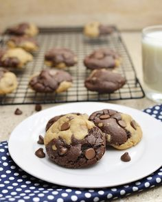 The best cookies ever. Chocolate and Peanut butter perfection.