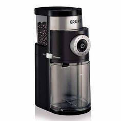 KRUPS Professional Electric Coffee Burr Grinder with Grind Size and Cup Selection, 7 Ounce, Black Description The new KRUPS Professional Burr Grinder Coffee Maker With Grinder, Best Coffee Grinder, Best Coffee Maker, Drip Coffee Maker, Coffee Grinders, Coffee Type, Black Coffee, Coffee Shop, Coffee Latte