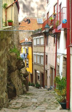 Alley in Porto Portugal