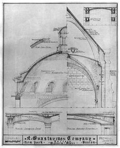 Ceiling designs of the Guastavino Company