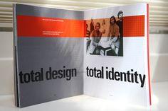 Total design werd total identity en ging zich meer richten op indentity design.   a zine of wim crouwel by Karen Qin, via Behance
