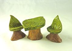 Fairy garden furniture - polymer clay