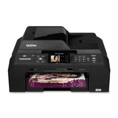 """Brother Printer MFC-J5910DW Wireless Color Photo Printer with Scanner, Copier and Fax. Black Color. 1.9"""" Touch Screen Color LCD Display plus Touch Panel Control for interactive and easy to use menu navigation. Up to 35-page Auto Document Feeder. 2,400 pages black and 1,200 pages color. The MFC-J5910dw is a compact, feature-rich, professional inkjet All-in-One with built-in wireless .802.11b/g/n. and wired Ethernet networking. Duplex printing for creating professional quality,..."""