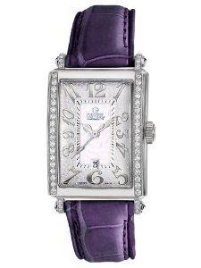 Gevril Women's 7249NE.14B White Mother-of-Pearl Genuine Alligator Strap Watch