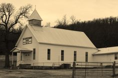OLD BAPTIST MISSION CHURCH.  Church body moved over the Trail of Tears 1838-1839 (PT by SKS WHD)