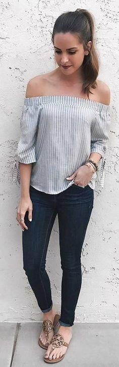 36 Outfits con sandalias de piso http://beautyandfashionideas.com/36-outfits-sandalias-piso/