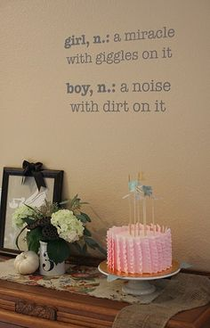 Maybe just noise with a smudge of dirt. I love boys. I've secretly always wanted my first kid to be a boy. Secretly. I definitely overuse that -and improperly, too. Hells bells.