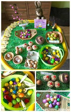 Learning and Exploring Through Play: Easter Themed Tuff Tray activities Easter Themed Tuff Tray