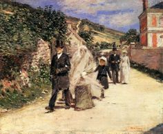 Theodore Robinson, The Wedding March, 1892, Oil on canvas, 57 x 67 cm, Terra Foundation for American Art, Chicago