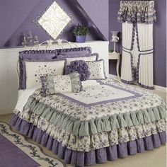Serenade Grande Ruffled Bedspread Bedding for the GUEST room! Bedroom Bed, Girls Bedroom, Bedroom Decor, Ruffle Bedspread, Daybed Covers, Beautiful Bedrooms, Bedroom Romantic, Cool Beds, Bed Styling